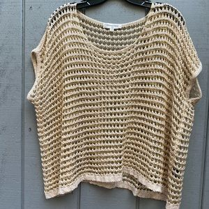 Oxford Circus Acrylic Sweater Gold Accents